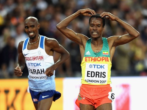 Mo Farah misses out on 5,000m gold as Muktar Edris beats him into second place