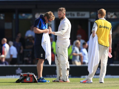 England batsman Mark Stoneman has dislocated finger popped back in during innings against West Indies