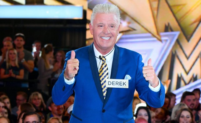 Derek Acorah enters the Celebrity Big Brother house at Elstree Studios in Borehamwood, Herfordshire. PRESS ASSOCIATION Photo. Picture date: Tuesday August 1, 2017. See PA Story SHOWBIZ CBB. Photo credit should read: Ian West/PA Wire