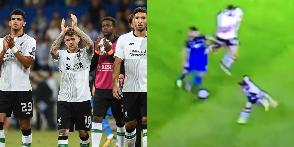 Liverpool defender Alberto Moreno's woefully timed tackle sums up Hoffenheim performance