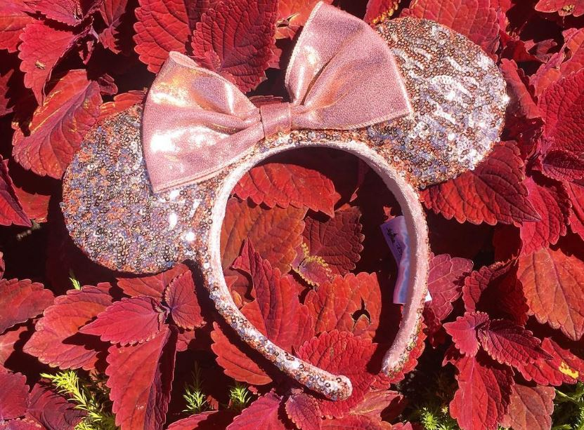 disney rose gold minnie mouse ears