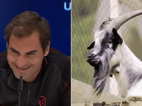 Roger Federer explains to curious child why he's called the 'GOAT'