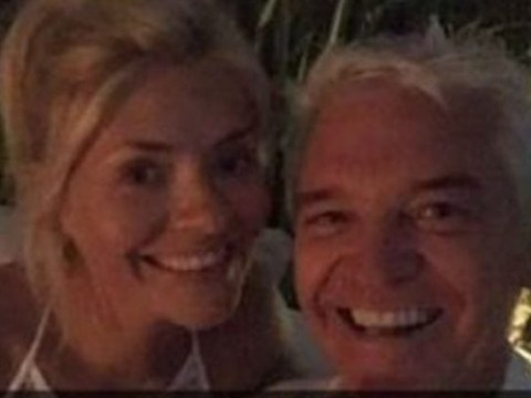 Holly Willoughby clumsily knocks over tray of shots during epic holiday with Phillip Schofield, Bradley Walsh and Peter Jones