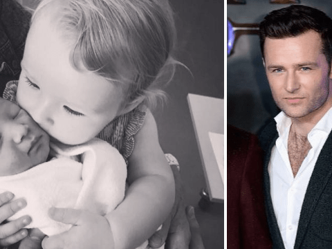 McFly's Harry Judd shares super sweet first snap of baby Kit with older sister Lola