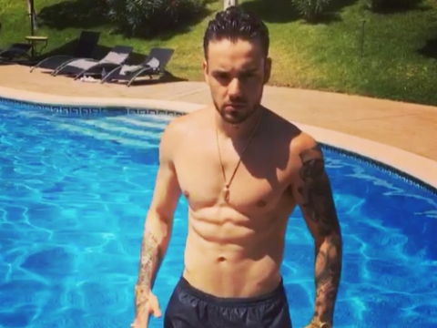 We can't stop watching Liam Payne's amazing superman impression on his first family holiday with Cheryl