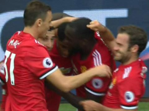Juan Mata immediately points out Nemanja Matic's role in Man Utd goal during Lukaku celebrations