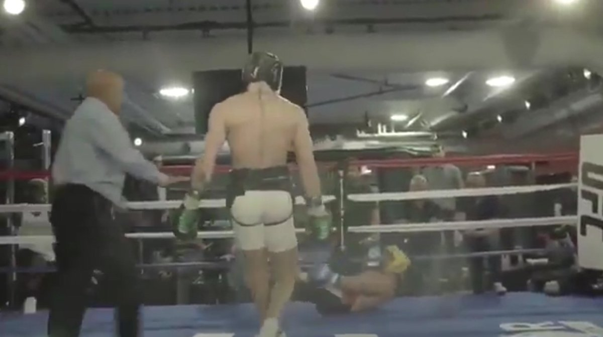 The moment Conor McGregor knocks down Paulie Malignaggi ahead of Floyd Mayweather super-fight causes further controversy