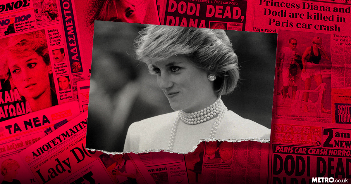 How newspapers reported the death of Princess Diana