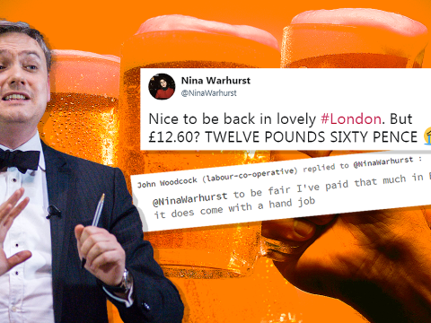 MP apologises for joke about getting hand job with his £13 pint