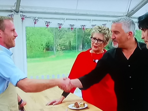 Paul Hollywood gives out TWO handshakes on Great British Bake Off – and fans are not happy