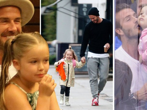 Adorable photos show Harper Beckham has always been a loyal daddy's girl to David