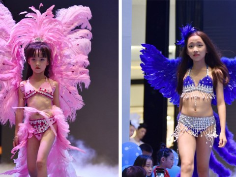Girls as young as 5 walk in controversial Victoria's Secret-style lingerie show
