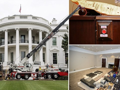 Check out this old-school panic button spotted during White House renovations
