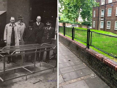 London fences were originally stretchers used to carry wounded civilians in the Blitz