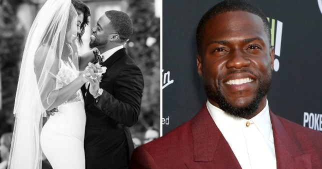 Kevin Hart wishes wife Eniko a happy first anniversary on