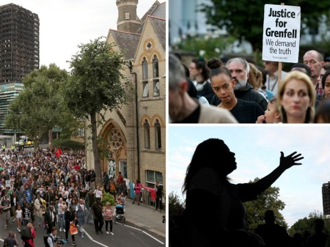 Silent marchers pay tribute two months after Grenfell disaster