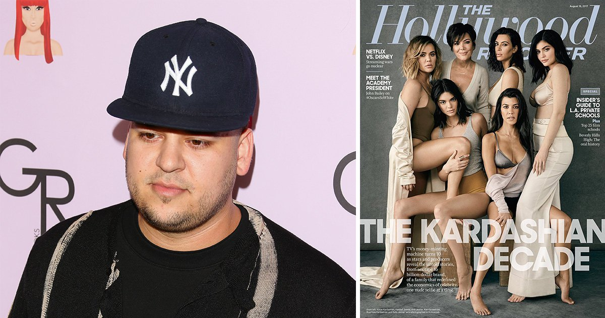 The Kardashians pose for magazine cover to celebrate a decade of their show and forget to invite Rob