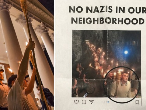 White supremacist chased out of town for taking part in Charlottesville march