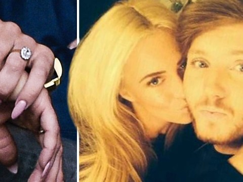 James Arthur is not engaged to girlfriend Jessica Grist – despite the dazzling rock on her finger