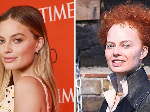 First look at Margot Robbie as Elizabeth I in Mary Queen Of Scots and she looks unrecognisable