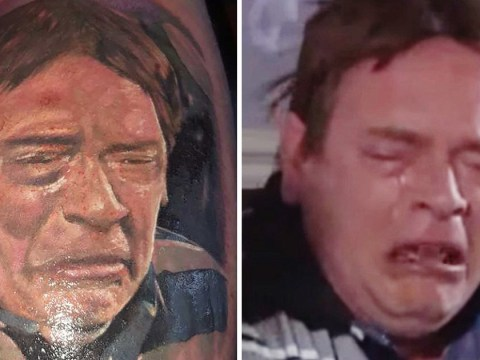 Man gets Ian Beale's crying face tattooed on his leg – and he's not even an EastEnders fan