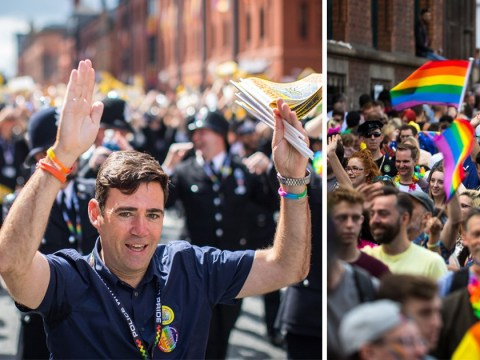 Mayor of Manchester Andy Burnham busts a move to the YMCA at city's Pride
