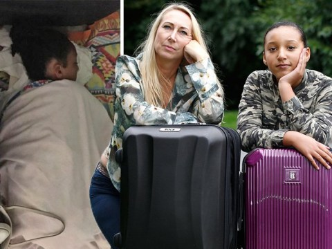 Mum and daughter forced to sleep on airport floor because hand luggage was '2cm too big'