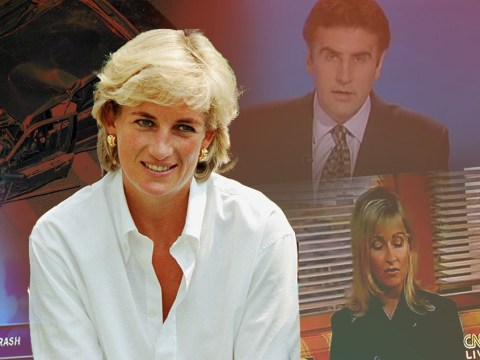 How TV news channels reported Princess Diana's death