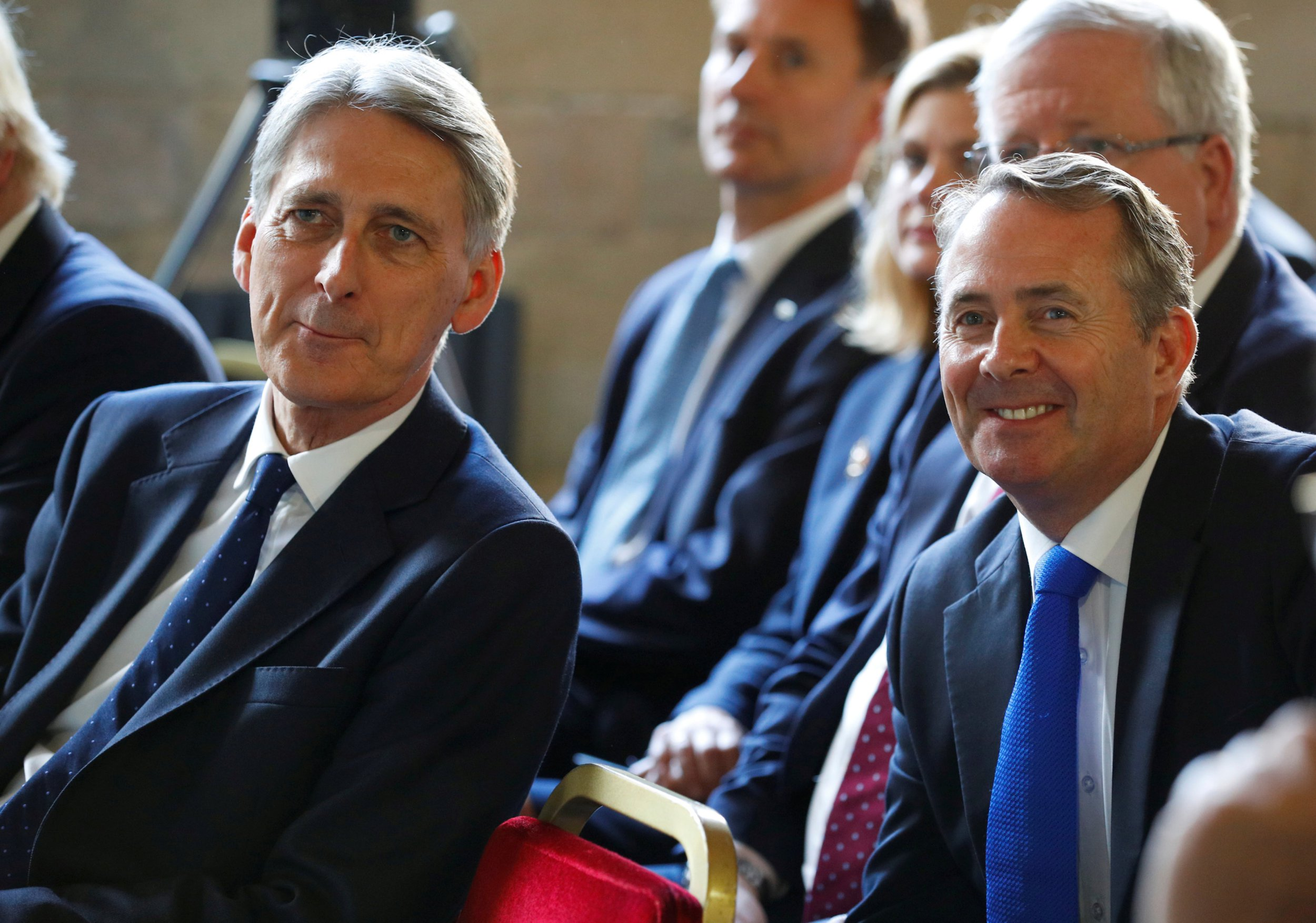 Philip Hammond and Liam Fox pour cold water on hopes for a soft Brexit