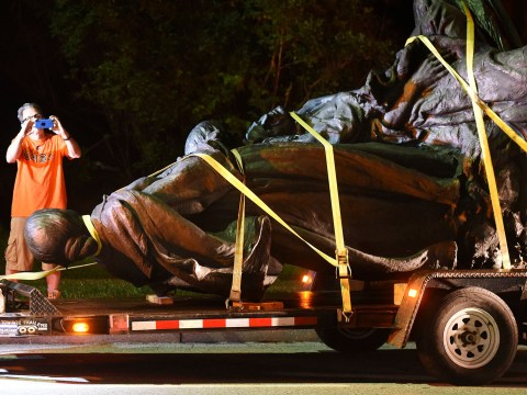 Confederate statues torn down overnight as KKK warn of more violence to come