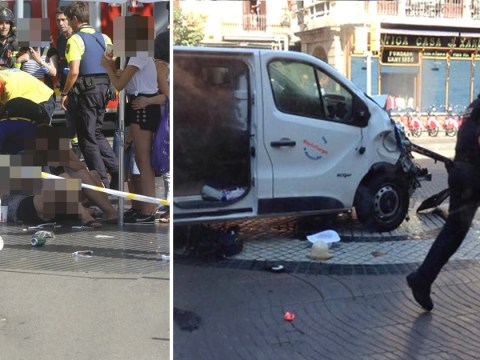 Terror attack in Barcelona leaves 14 dead after van crashes into crowds
