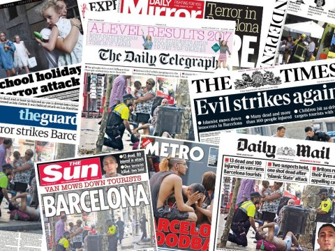 How UK newspapers covered the two terror attacks in Spain