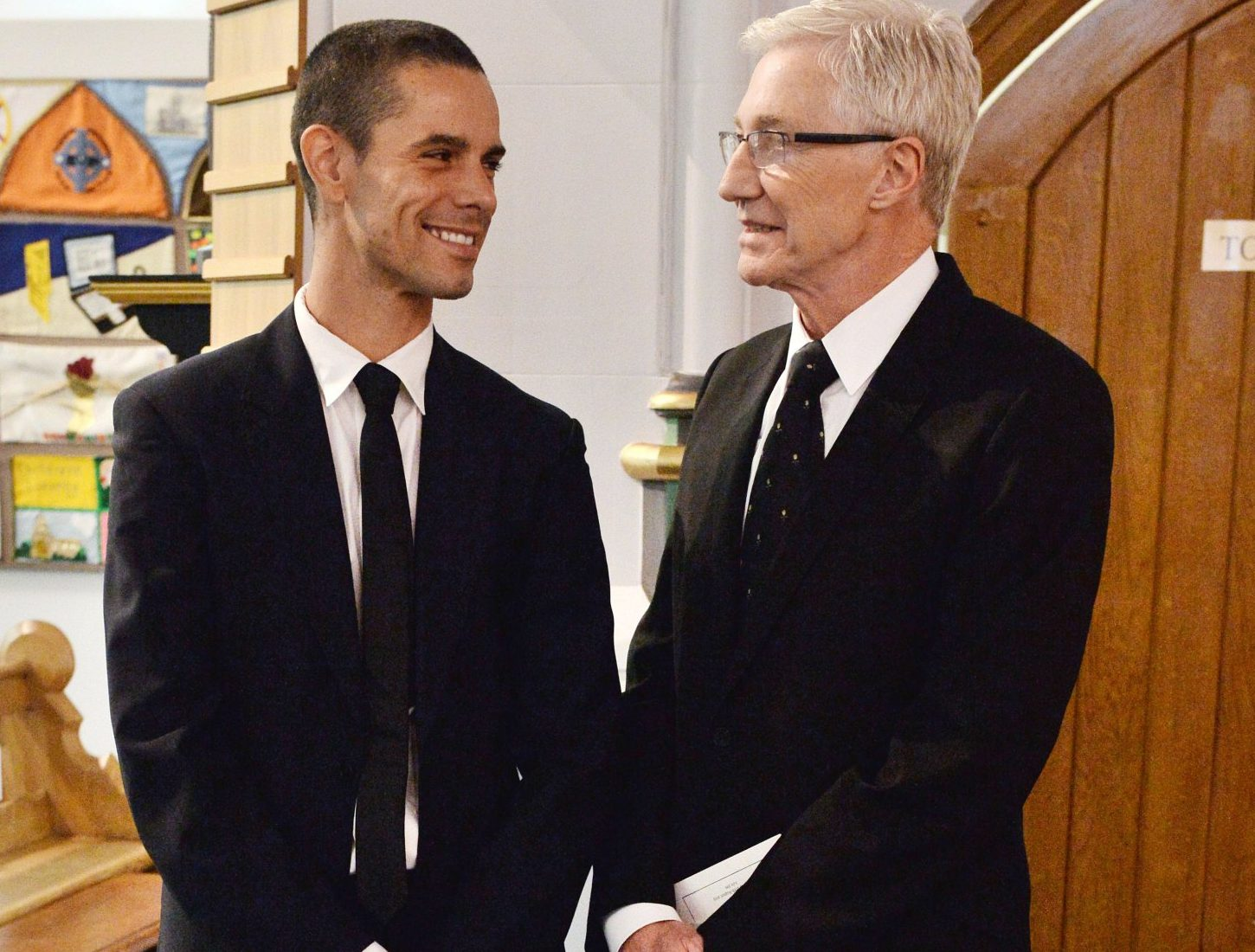 Paul O'Grady and Andre Portasio