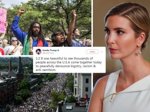 Ivanka Trump praises America's 'beautiful' anti-fascist protesters