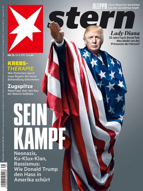 German magazine Stern doesn't hold back with their anti-Trump cover | Metro  News