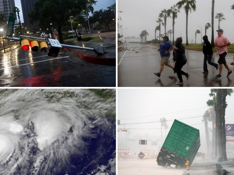 Hurricane Harvey rips through Texas with devastating floods and 130mph winds