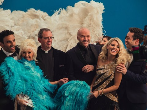 Strictly's new stars get all glammed up for the first time as they film the series trailer