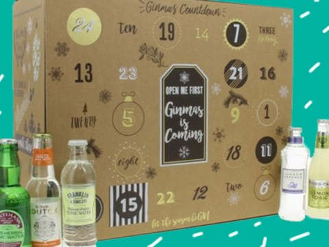 There's a gin and tonic advent calendar that comes with a full-sized bottle of gin