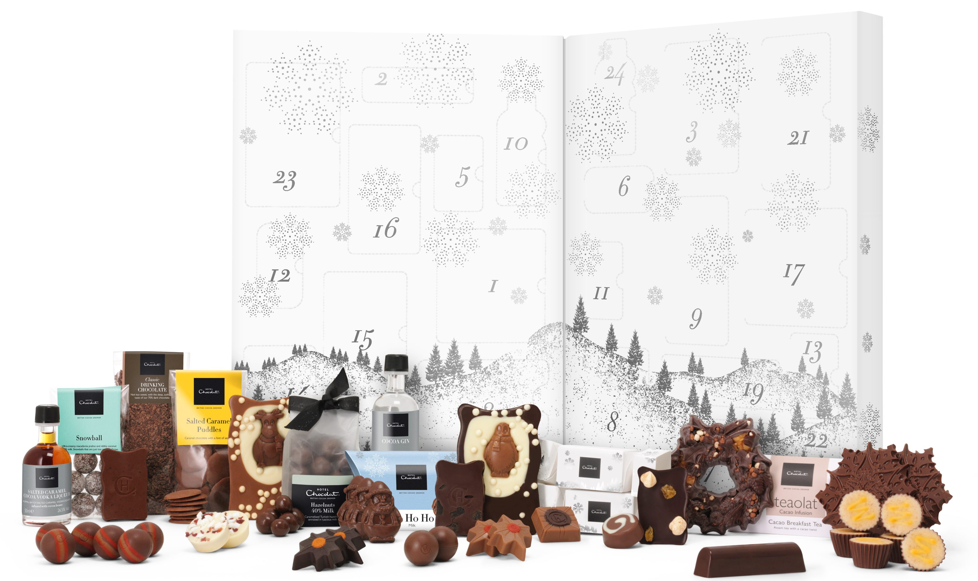 This giant Hotel Chocolat advent calendar contains gin and chocolate