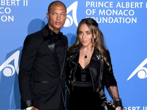 Jeremy Meeks and Chloe Green make their red carpet debut as a couple as he meets the heiress' mum