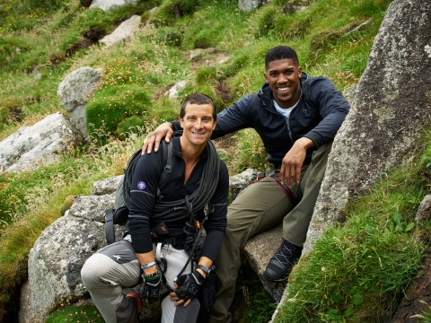 Bear Grylls takes boxer Anthony Joshua to one of the UK's most remote locations for new ITV 'mission'