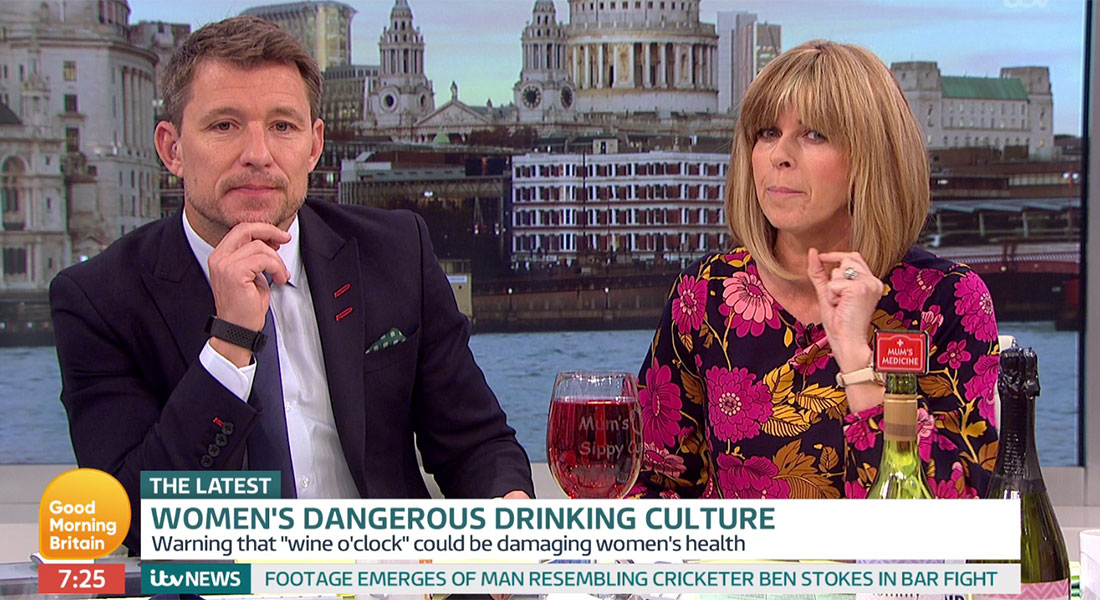 Good Morning Britain promotes cheap prosecco just moments after a piece on the dangers of booze