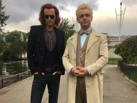 'One hell of a double act': David Tennant and Michael Sheen get to work on Neil Gaiman's Good Omens