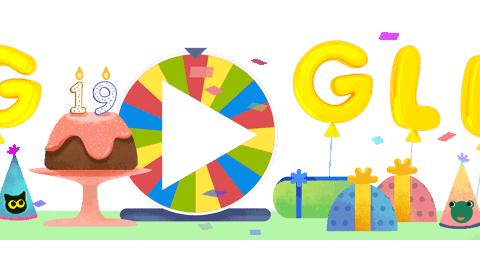 Google Doodle to celebrate Google's 19th birthday