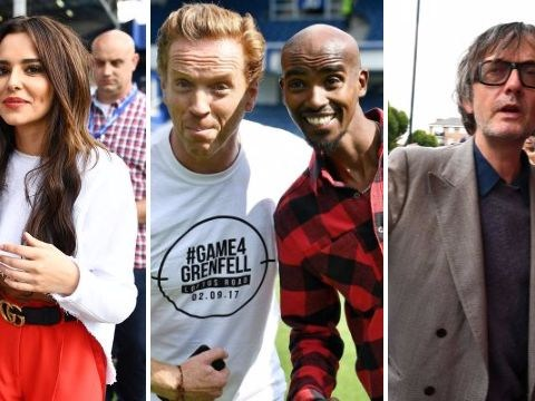 Stars including Mo Farah, Ed Westwick, Olly Murs and Cheryl flock to watch Game 4 Grenfell