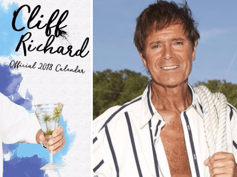 Cliff Richard's 2018 calendar is going to make your mum's day