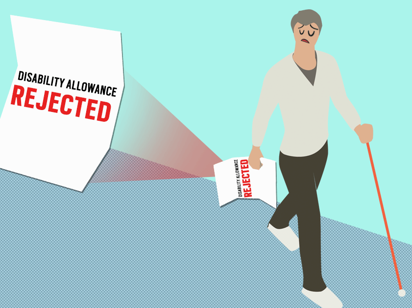 Here's what it's like to depend on disability allowance only to be thrown off it