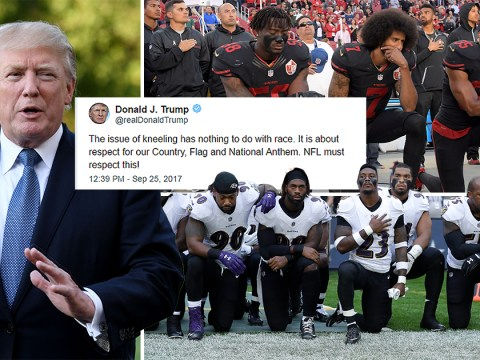 Donald Trump says national anthem protests are nothing to do with race