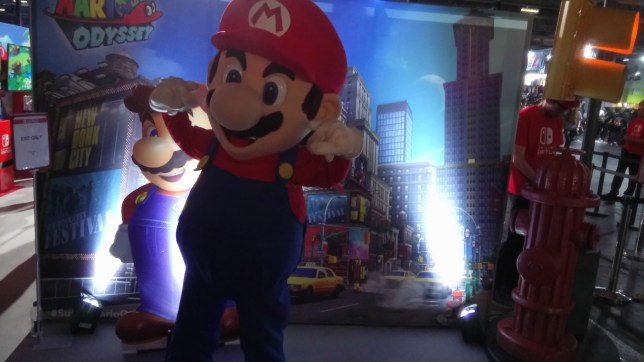 EGX 2017 - Mario himself was there, apparently
