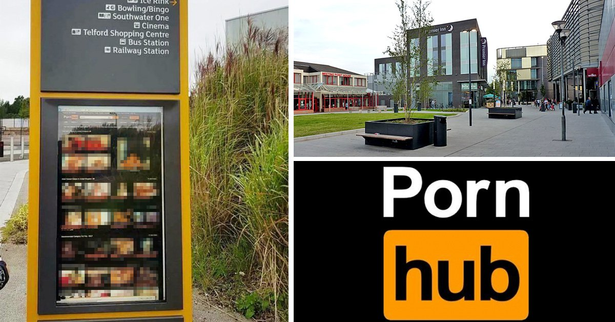 Hardcore porn was shown on public information signs